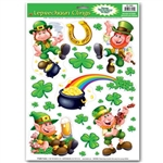 Leprechaun/Shamrock Window Clings