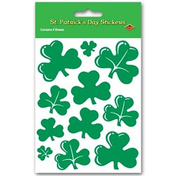 Shamrock Stickers (4 sheets/pkg)