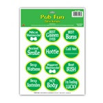 St. Patrick Pub Fun Stickers (1 sheet/pkg)