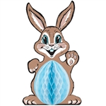 "Our Vintage Tissue Easter Bunny will have you ready to hop into the Easter spirit!  Reproduced from the circa 1974 original artwork, this classic bunny is sure to be an instant family favorite!  Completely assembled this bunny stands 32"" tall."
