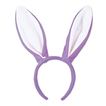 Purple Soft-Touch Bunny Ears