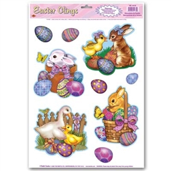 Easter Animal Clings (9/sheet)