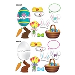 The Easter Photo Fun Signs are the perfect props to make your Easter celebration unforgettable! Just pick your prop, hold it to your face, and smile. You will have a photo to last a lifetime! Sizes range from 4 in-9.75 in. 12 pieces per package.