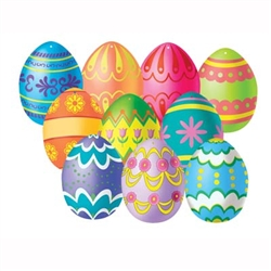 Mini Easter Egg Cutouts (10/pkg)
