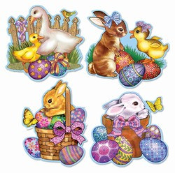Easter Bunny And Friends Cutouts