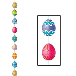 Easter Egg Stringer, 6½'  (1/Pkg), Printed 2 Sides