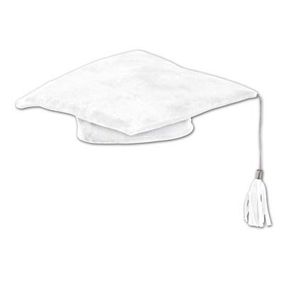 White Plush Graduate Cap