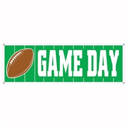 Football Game Day Sign Banner