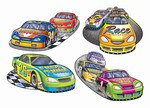 Racing Cutouts (4/Pkg)