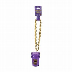 Mardi Gras Beads with Shot Glass (1/pkg)