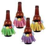Drink Hula Skirts, 3½ inches  (4/Pkg), asstd colors