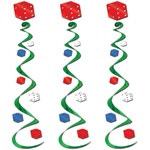 Hanging Casino Dice Decorations