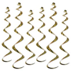 Twirly Whirly - Gold (6/pkg)