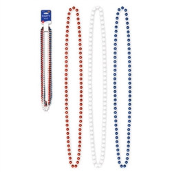Red, White, and Blue Party Beads