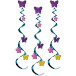 Butterfly and Flower Whirls (3/pkg)