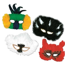 Classic Assorted Fanci-Feather Masks (1/pkg)
