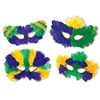Mardi Gras Fanci-Feather Mask (1/pkg)