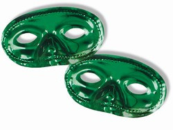 Green Metallic Half Mask (Sold Individually)
