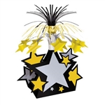 Black, Gold, and Silver Star Centerpiece