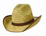 Genuine Cowboy Hat w/Brown Trim and Band
