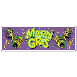 Large Mardi Gras Sign Banner