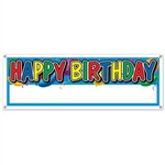Happy Birthday Blank Sign Banner