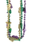 Green, Gold, and Purple Musical Instrument Beads (3/pkg)