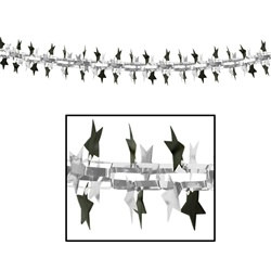 Black and Silver Star Garland/Column