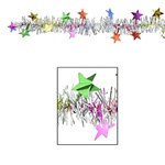 Multi-Color Flame-Resistant Star Garland