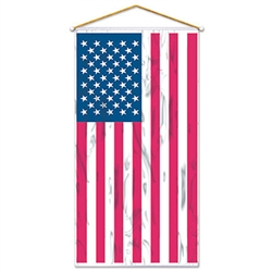American Flag Door/Wall Panel (red,silver,blue)