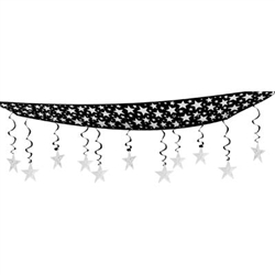 Black and Silver The Stars Are Out Ceiling Decoration