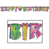 Prismatic Happy Birthday Streamer, 6inx5ft  (1/Pkg)