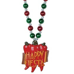 Beads with Happy Fiesta Medallion (1/pkg)
