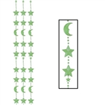 Glow-In-The-Dark Moon and Star Bead Curtain