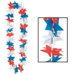 Patriotic Star Party Lei (1/pkg)