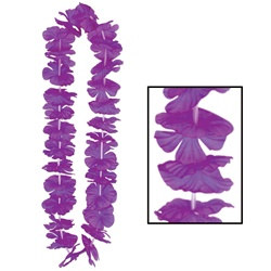 Purple Silk N Petals Party Lei (1/pkg)