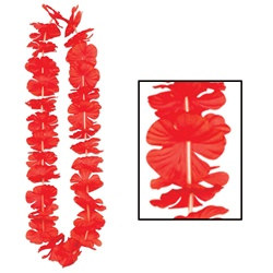 Red Silk N Petals Party Lei (1/pkg)