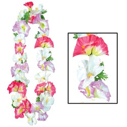 Silk N Petals Morning Glory Leis (1/pkg)
