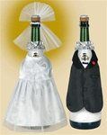 Bride and Groom Bottle Covers (2/pkg)