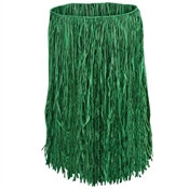 Value Raffia Green Hula Skirt - Adult (Select Size)