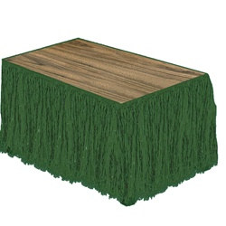Green Raffia Table Skirting