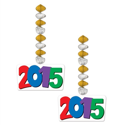 """2015"" Danglers (2 Per Package)"