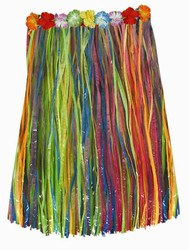 Adult Artificial Grass Hula Skirt (Multicolor)