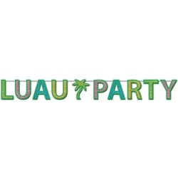 Glittered Luau Party Banner