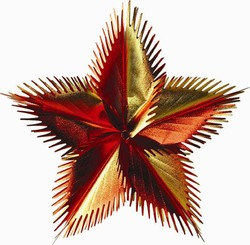 Gold, Orange, Red Leaf Starburst - 16 in