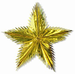 Gold Leaf Starburst, 24 in
