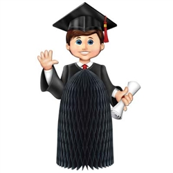 Boy Graduate Centerpiece, 11 inches  (1/Pkg)