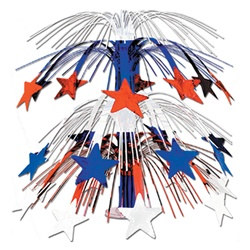 Red, White, and Blue Star Cascade Centerpiece