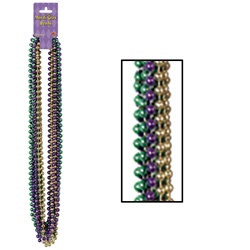 Mardi Gras Small Round Beads