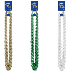 St. Patrick's Day Party Beads - Select Color (12/pkg)